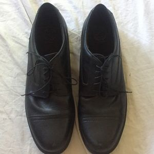 Dunham waterproof 18 oxfords black leather shoes